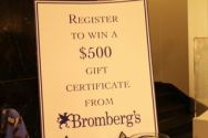 Bromberg's jewelry give away