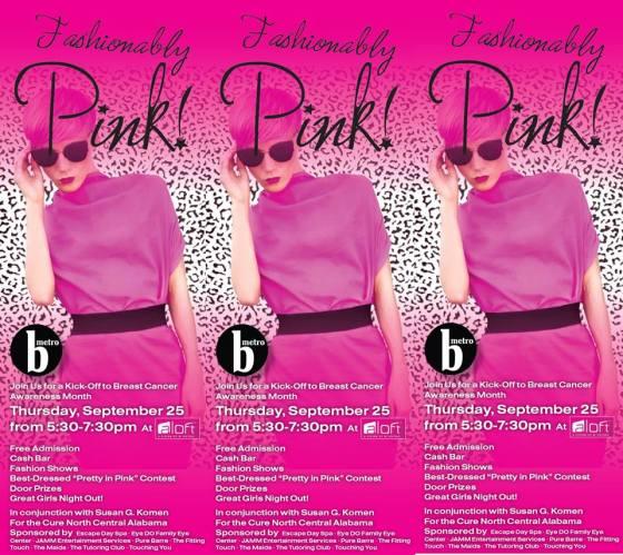b metro pink party